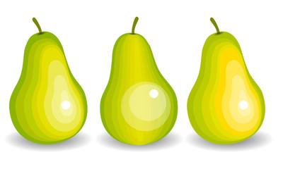 Yellow pears. Vector illustration.