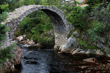 Die Packhorse Bridge in Schottland