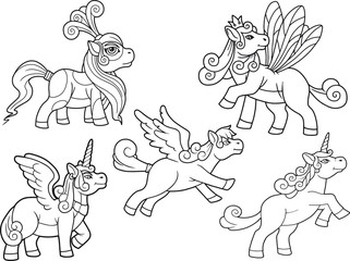 cute little pony set of images