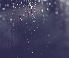 Rain drops on a window glass
