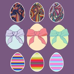 Easter eggs. Vector set for design