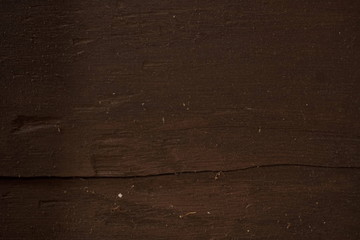 Dark wood texture. Dark brown old panel