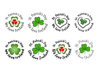 We love Ireland Emblems