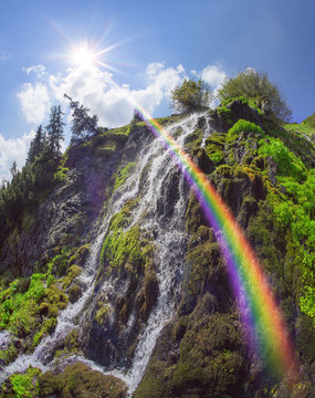 Wild waterfall Marmarosh