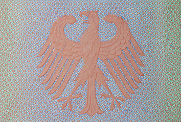 german imperial eagle in the german passport