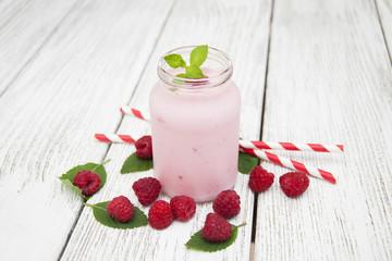 raspberry yogurt