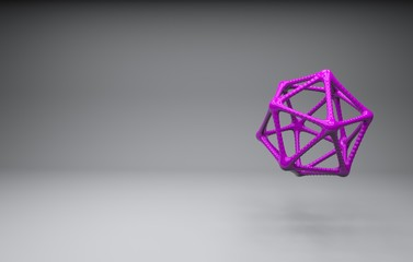 3d render of a molecule on a gray background