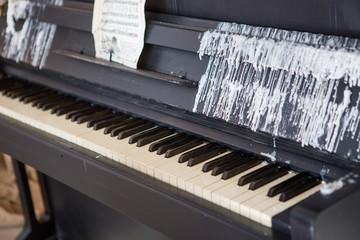 Piano in the interior