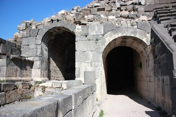 Westtheater in Gadara Umm Qais in Jordan, Middle East