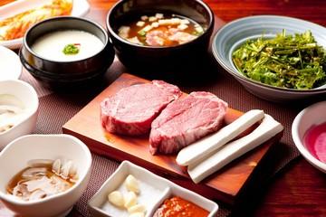 tenderloin with korean style table