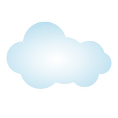 blue picture cloud cumulus climate design vector illustration
