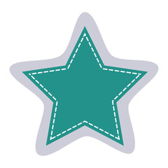 sticker star shape frame callout dialogue vector illustration