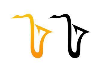 Style Comic Logo of Sax