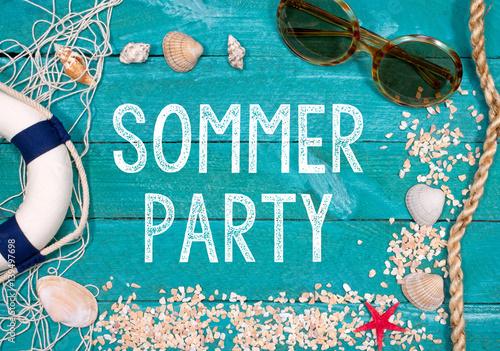 """sommer party - einladung zum sommerfest"""" stockfotos und, Einladung"""