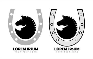 horse logo on the horseshoe.
