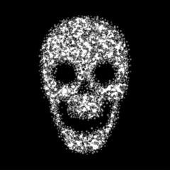 Abstract skull. Vector illustration.