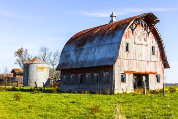 Worn and Weathered Corn Farm Barn in Indiana II