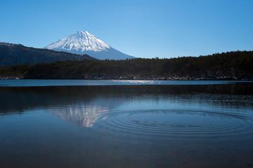 Shojiko lake and mt.Fuji