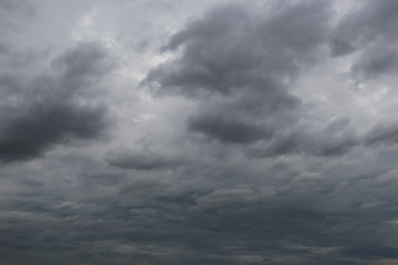Overcast sky of rain clouds forming in the sky in concept of climate.