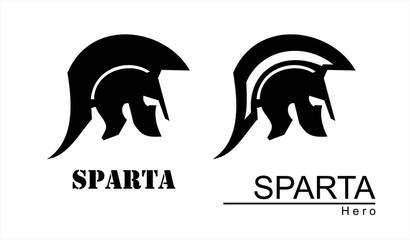 sparta helmet silhouette. Trojan warrior. Historical Sparta concept icon. Antique Rome Emblem. suitable for team mascot, community icon, emblem, product identity, illustration for clothing, etc.