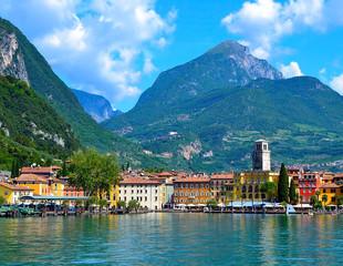 Beautiful view of Riva del Garda, Lake Garda, Italy