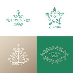 Logo set of nature elements