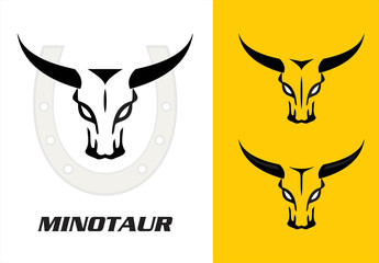 Wild bulls, minotaur