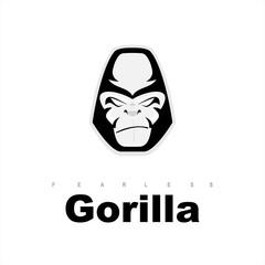 gorilla. gorilla head. gorilla face.