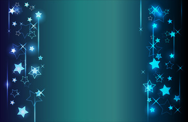 Digital abstract blue background. Vector illustration.
