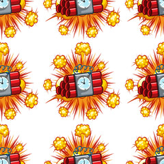 Seamless background design with time bombs