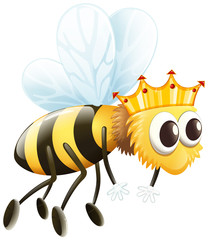 Bee wearing golden crown