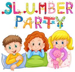 Kids in pajamas at slumber party