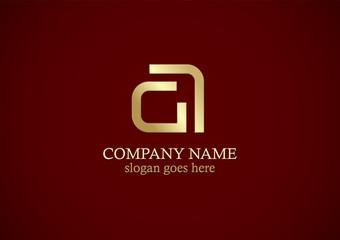 gold letter a line logo