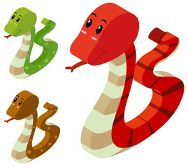 3D design for three snakes