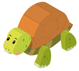 3D design for cute turtle