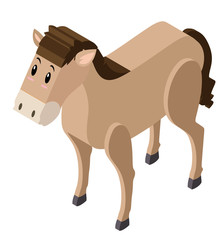 3D design for cute horse
