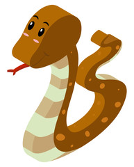 3D design for brown snake