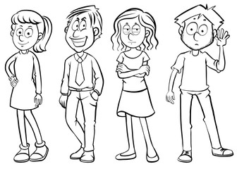 Doodles character for men and women