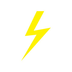 lightning icon isolated vector