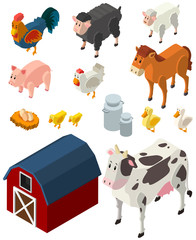 3D design for many types of farm animals