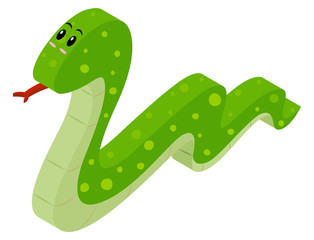 3D design for green snake