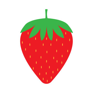 stawberry isolated vector