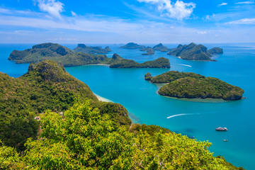 Top view of Angthong Island National Park in Thailand.