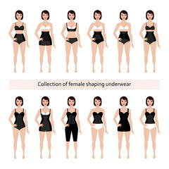Collection of female shaping underwear