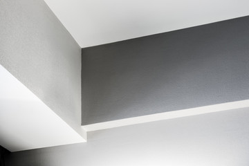 corners and ceiling of the room background. Architectural details of premises