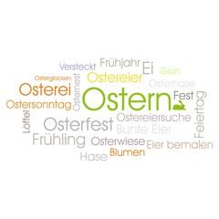 Ostern Osterfest Osterfeier - Wolke Schrift Wandtatoo Geschenkkarte Sinnbild