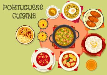 Portuguese cuisine popular dishes icon