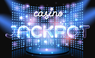 Jackpot casino win lettering stage