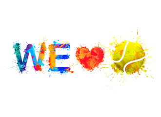 We love tennis. Vector