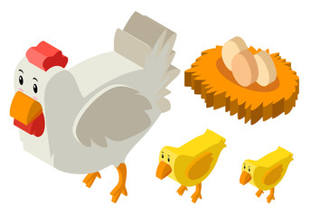 3D design for chickens and eggs